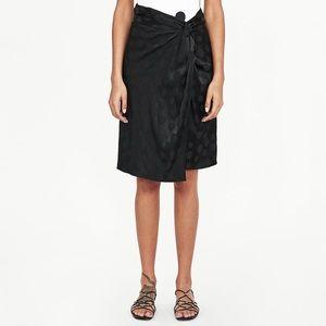 Zara Polka Dot Jacquard Skirt